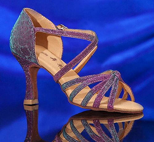 KUKI Lateinische Tanzschuhe hochhackige erwachsene weibliche Ballsaaltanzschuhe weibliche tanzende Schuhe 1