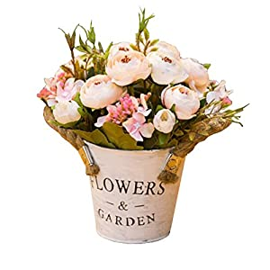 George Jimmy Artificial Flowers for Wedding/Party Table Ornaments-Pale Pink Camellia Flower Calyx 86