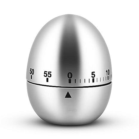 Con forma de huevo temporizador digital