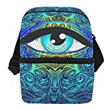 Lunch Bag Sacred Geometry Eye Portable Cooler Bag Womens Leakproof Lunch Storage Zipper Tote Bags for Golf