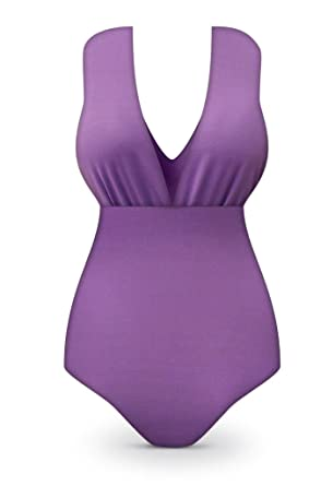 573ca3412d1 Sanctuarie Designs Lavender One-Piece Plus   Super Size Swimsuit at ...