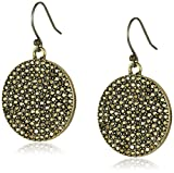 Lucky Brand Pave Disc Earrings