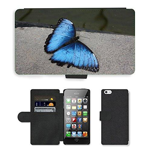 GoGoMobile PU Leather Flip Custodia Protettiva Case Cover per // M00119417 Papillon Papillons // Apple iPhone 5 5S 5G