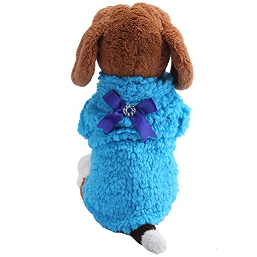 [Uniquorn Winter New Pet Cotton Clothing Dog Leisure Four - Legged Clothes Bow Pet Warm Plush Three - Color] (Dorothy Wizard Of Oz Costume Pattern Free)