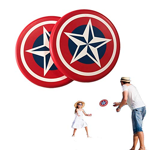 Systreek 2 Pack Soft Frisbees Disc, Round Edge Foam Frisbees, Throwing Flying Frisbee Disc Game, Outdoor Frisbee for Kids and Adults, Parent-Child Interactive Toy, Perfect for Reaction,Agility, Red -