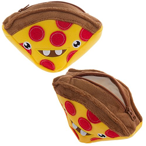 Stuffed Pizza - Hallmark (2 Pack) 7 Inch Plush Stuffed Zip Carrying Cases Organizer For Kids Pizza Pouch