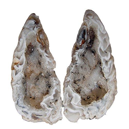 Achat Geode PAAR aufgeschnitten und poliert A* Qualität Größe *S* ca. 30 - 40 mm.(3894)