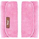 J is for Jeep Strap Covers, Plush, Pink, Reversible, Infant Car Seat Strap Covers, Baby Seat Belt Covers, Stroller Accessories, Head Support, Shoulder Pads
