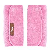 J is for Jeep Car Seat Strap Covers 2 Pack, Plush Pink - Styles May Vary