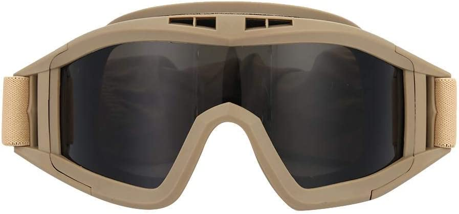 Demeras Tactics Goggles Military Tactical Goggles Gafas Protectoras de Seguridad UV-400 Protección para los Ojos Casco Gafas