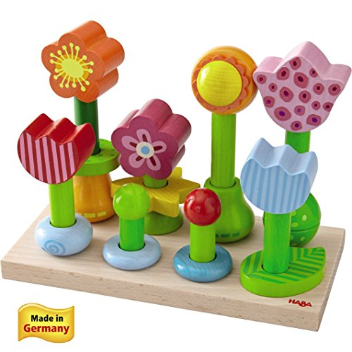 Haba Little Flower Garden Wood Pegging Game