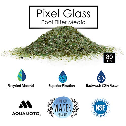 Pixel Glass Premium Alternative Filter Media for Pool Sand Filters (80 lbs) by  Aquamoto