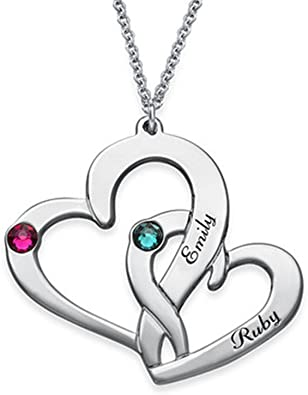 a266XDKSJK Custom Necklace Personalized Infinity Pendant Names Valentines Gift