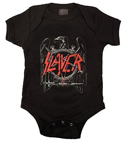 Slayer Eagle Baby Onesie Bodysuit Romper, Black, 12 Months ()