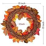 15Inch-Fall-Wreath-Front-Door-Wreath-with-Maple-LeafPumpkin-Pine-coneBerries-Garland-Harvest-Wreath-for-Halloween-and-Thanksgiving-Home-Indoor-or-Outdoor-Arrangement-Decoration
