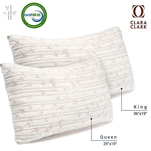 Premium Shredded Hypoallergenic Certipur Memory Foam Pillow with washable removable Ultra cool...