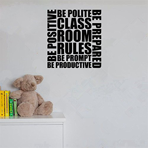 muirt Vinyl Wall Sticker Decal Quote Home Decor Classroom Rules for Classroom -