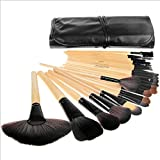Great Deal 24 Pcs Pro Cosmetic Makeup Set Powder Foundation Eye shadow Eyeliner Lip Brush Tool with Travel Pouch