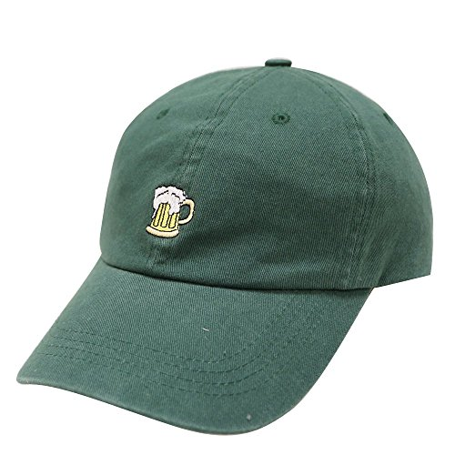 City Hunter C104 Beer Small Embroidery Cotton Baseball Cap Multi Colors (Hunter Green)