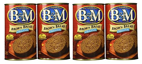B&M Brown Bread Plain, 16 oz (Pack of 4) -