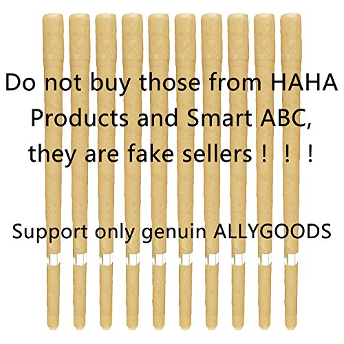 100 Beeswax Non Toxic Cylinders 10pc Unscented Hollow