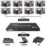 Keliiyo HDMI Splitter V1.4b 1X8 HDMI Splitter 1 in