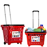 dbest products Gocart, Red (5 Pack) Grocery Cart