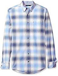 Nautica Men's Big and Tall Long Sleeve Plaid Oxford...
