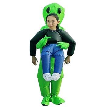 NiQiShangMao 2019 Nuevo Traje Inflable Verde Alien Adultos ...
