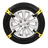 4PCS Snow Chains Car Anti Slip Tire Chains Adjustable Anti-Skid Chains Car Tire Snow Chains-Black