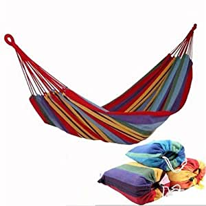 Portable Single Cotton Hammock Air Chair Hanging Swinging Large Cotton Fabric Camping Outdoor 120KG
