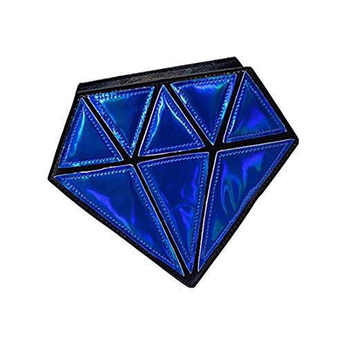 Satchel A Ragazze Forma Tote Per Messenger Sodial Da Tracolla Piccola Borse Borsa Sera Femminile Crossbody Blu Le 3d r Diamante Marino Catena Patchwork ZOxYqwYR