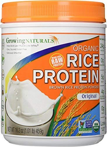 Growing Naturals Organic Rice Protein Powder, Original, 16.2 Ounce by Growing Naturals