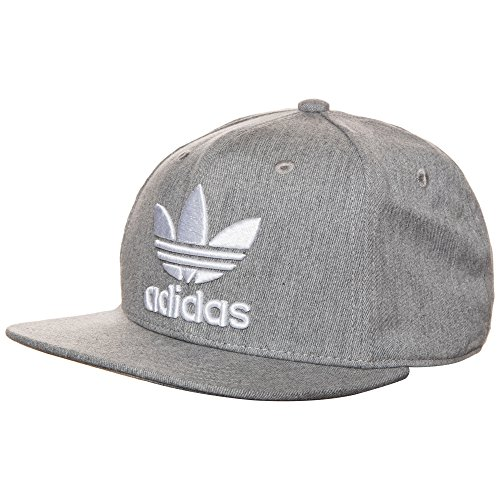 adidas Herren AC Trefoil Mütze, Medium Grey Heather, OSFM