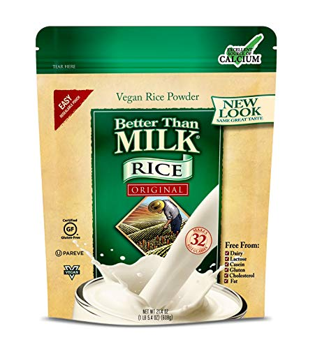 Better Than Milk Vegan Rice Milk Powder, Original Flavor, 21.4 oz. Pouches, 6-Pack (07854)