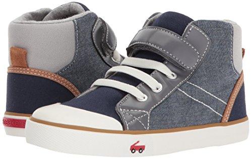 Pictures of See Kai Run Boys' Dane Sneaker, Chambray Multi, 7 M US Toddler 4