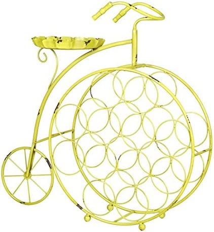 Botellero de Metal Bicicleta Amarilla 22x66x66cm - LuxoMobel ...