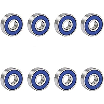38112fd02 Amazon.com   TRIXES 8 Frictionless Abec 9 Sealed Skateboard Roller ...