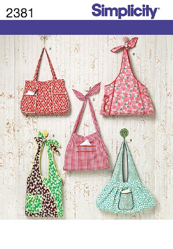 Simplicity Sewing Pattern 2381 Bags, One Size