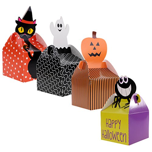 MagiDeal Happy Halloween Paper Treat Boxes Party Candy Cupcake Box for Party Supplies