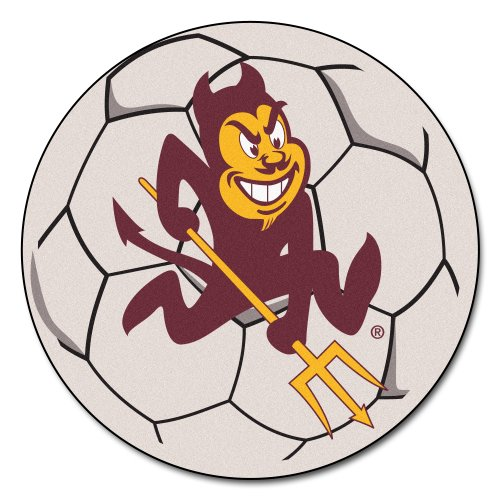 FANMATS NCAA Arizona State University Sun Devils Nylon Face Soccer Ball Rug ()