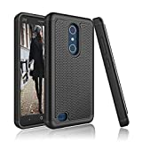 ZTE Blade X Max Case, ZTE Z983 Case, Tinysaturn [YSaturn Series] Hybrid Shock [Black] Absorbing Rubber Plastic Scratch-Proof Defender Bumper Hard [Drop Protection] Cover Case For ZTE Blade X Max