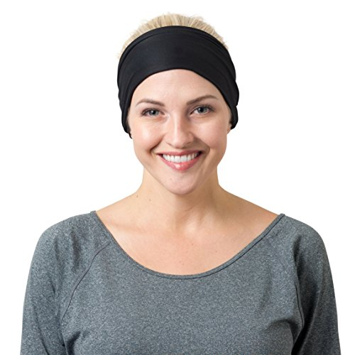Black Solid and Black Striped Headbands One Size