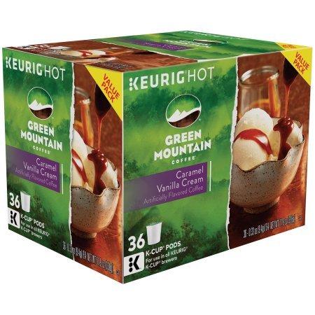 GREEN MOUNTAIN Coffee Caramel Vanilla Cream Light Roast Coffee, 36 ct
