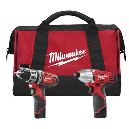 Milwaukee 2497-22 M12 12V Cordless Lithium-Ion 2-Tool Combo Kit Hammer Drill Impact Driver