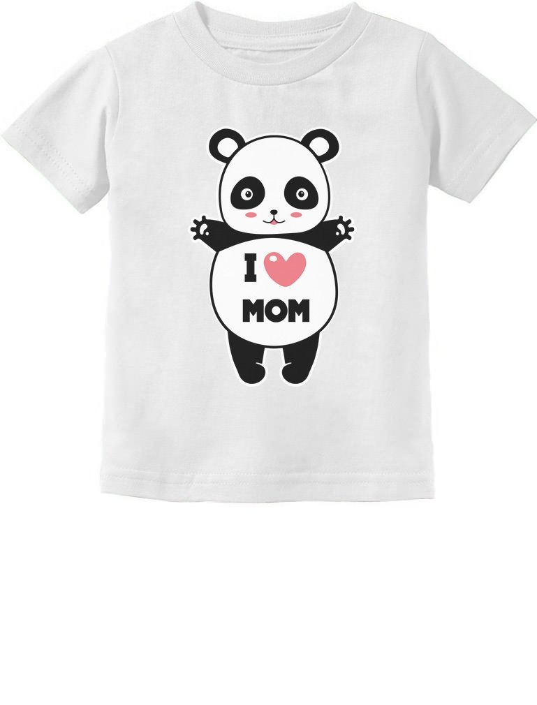 Tstars - I Love Mom Panda Hug Toddler Kids T-Shirt 2T White