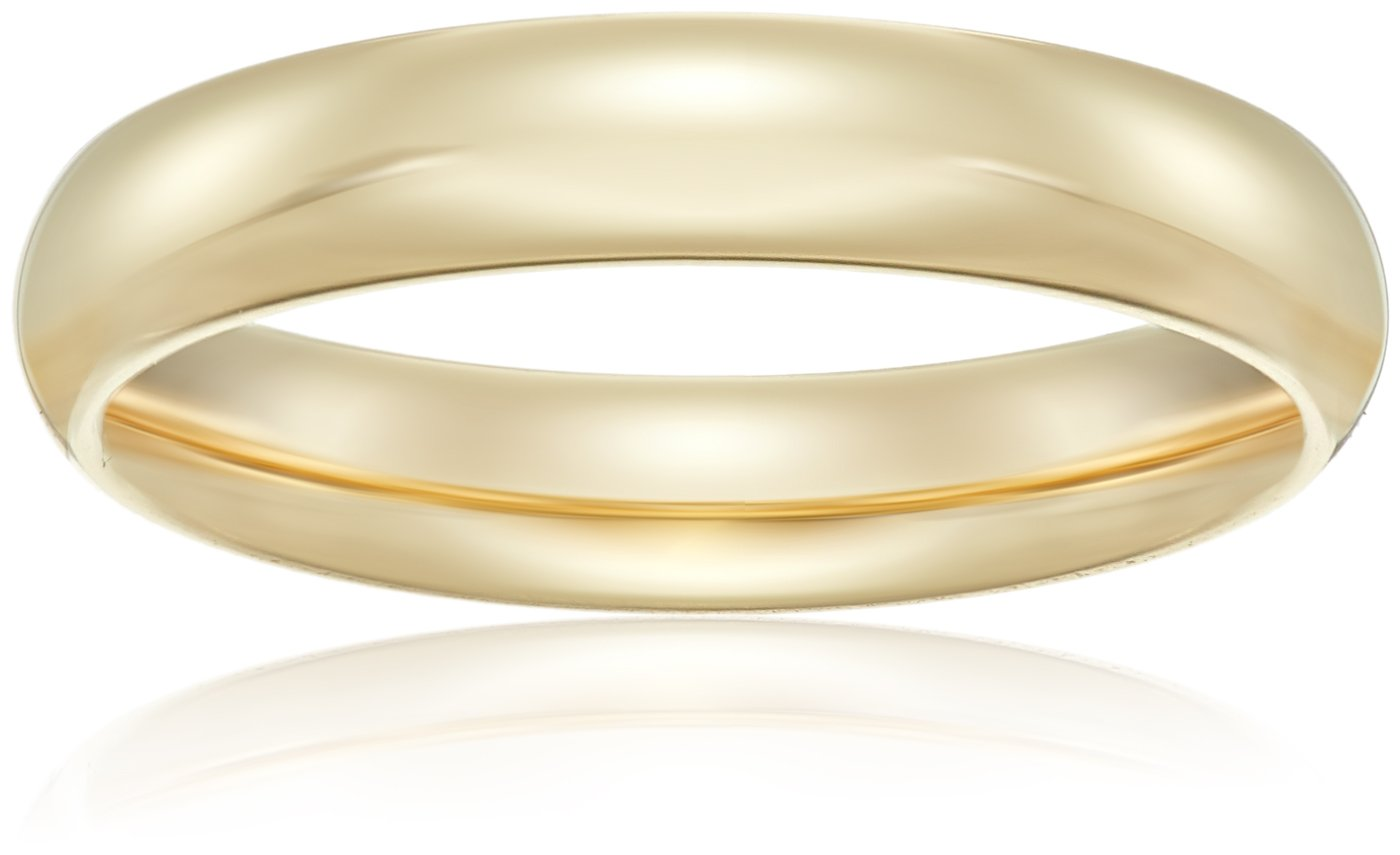 Standard Comfort-Fit 14K Yellow Gold Band, 4mm, Size 7.5