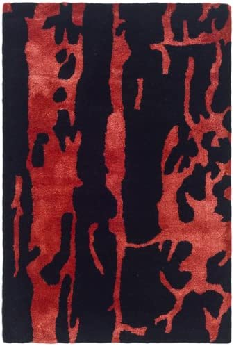 Safavieh Soho Collection SOH326B Handmade Black and Red Premium Wool Area Rug 2 x 3