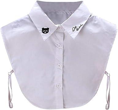 Blusa De Las Señoras Outdoor Falda Ropa De Cuello Camisa Desmontable Cuello Puntiagudo Collar De Las Mujeres Camisa Desmontable Blusa En La Muñeca De La Vendimia Elegante Señoras Media Falso Camisa: Amazon.es: