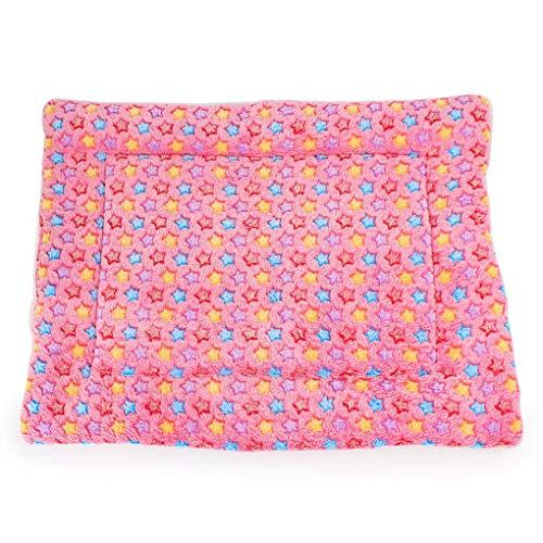 Krastal Dog Blanket Winter Warm Fleece Pet Cat Car Cover Cute Star Small Big Dog Puppy House Bed Cushion ()